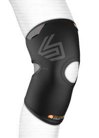 Shock Dr 865 Knee Sleeve Open Patella Compression Sleeve with Open Patella in a comfort flex design, Anatomical Precurved Compression Fit Sleeve Design.