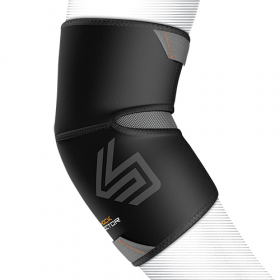 Shock Dr 831 Elbow Compression Sleeve in a comfort flex design, Anatomical Precurved Compression Fit Sleeve Design with Extended Coverage.