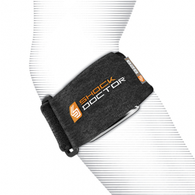 Shock Dr Tennis Elbow Support Strap OSFA. Air Cushion helps to relieve tendonitis pain. Terry-Lined Lycra Binding for comfort and long lasting wear.