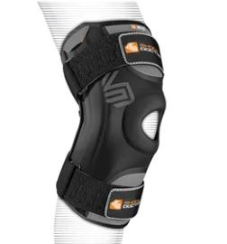 Shock Dr 870 Knee Stabilizer w/Flex Stays Precurved Anatomical Design with Dual Flexible Side Stabilizers. Four-Way Stretch Lycra Mesh at back of knee.