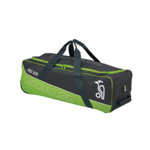 Kookaburra Pro 600 wheelie bag. Charcoal/lime. Rolleston, selwyn