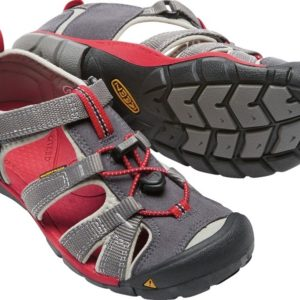 Keen Seacamp Boys Sandal. in stylish Grey and red.Selwyn, Rolleston
