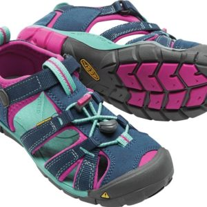 Keen Seacamp Girls Sandal is a great blue colour. Perfect for the outdoors. Selwyn, Rolleston