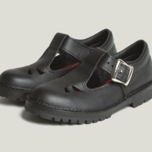 McKinlays Rio black kids school shoe, t bar sandle. Rolleston, selwyn