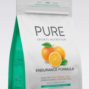 PURE Endurance Formula 500gm is a premium drink base specifically formulated with real fruit, carbohydrates, mineral salts and whey protein isolate.