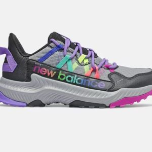 NB Kids Shando Blk/Rainbow. AT Tread outsole offers extra reliable traction on various surfaces from brick pathways to concrete terrain.