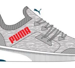puma flyer running shoe. grey colour. rolleston, selwyn