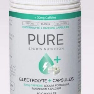 PURE ELECTROLYTE +30mg caffeine CAPSULES Recommended for endurance athletes or those requiring additional electrolytes during hot conditions. Rolleston Selwyn