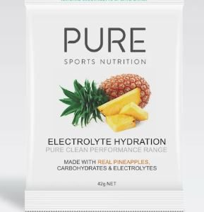 PURE Electrolyte Hydration Pineapple 42g is a premium natural electrolyte drink base using real freeze dried fruit, carbohydrates and electrolytes. Rolleston