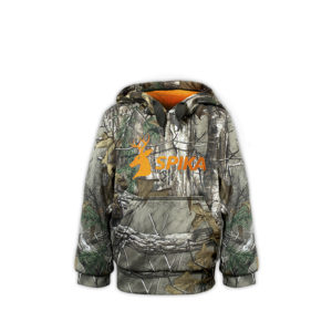 KID'S CAMO/ORANGE GO HOODIE range had been created to keep you comfortable wherever life takes you. Wear the GO range in the field or out in town.