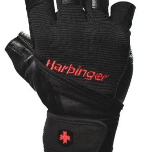 Men's Pro Wristwrap Gloves Black Integrated palm vents release heat to keep hands coolLayered, padded palm and fingers for durability and comfort.