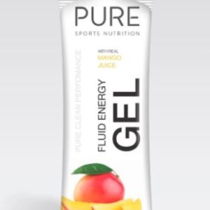 PURE FLUID ENERGY GELS 50G Mango is a premium natural sports gel using real fruit concentrates, juices, carbohydrates, and electrolytes.