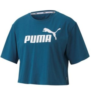 PUMA ESS CROPPED LOGO TEE Modern. Dynamic. This contemporary take on the classic training tee features a playful cropped design with bold branded detailing.