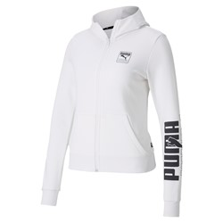 PUMA FULL ZIP HOODIE TR WHITE. Sporty looks sleek in the Rebel Full Zip Hoodie. With classic cut lines and a relaxed fit, it will become your go-to garment. Rolleston Selwyn