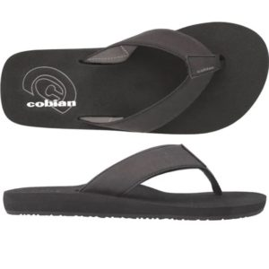 Cobian Sandal Floater - Black Mens Water friendly-Synthetic leather-Multiple densities-Squishy brushed EVA top-sole-Custom Cobian branded outsole. Rolleston Selwyn