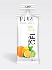 PURE ENERGY GELS 35G ORA/LEM/LIME PURE Energy Gels are a premium natural sports gel using real ingredients for flavour, carbohydrates, and electrolytes. Rolleston Selwyn