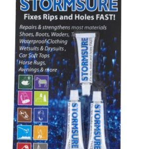 STORMSURE 3X5 GRAM BLISTER PACK is the original adhesive and sealant for all types of repair on waders, boots and just about anything else you can think of. Rolleston Selwyn