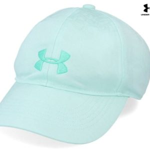 UA GIRL'S PLAY UP CAP UA Free Fit pre curved visor and unstructured front conforms to your head for a sleek low profile fit.