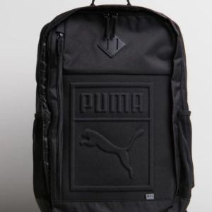 PUMA S BACKPACK BLACK is a durable woven design debossed with the brand's iconic logo. Measurements: H48cm x W32cm x D16cm Rolleston Selwyn