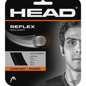 HEAD Reflex 18g Squash String 10m Black This premium string offers great power and provides excellent comfort for high level players. Rolleston Selwyn