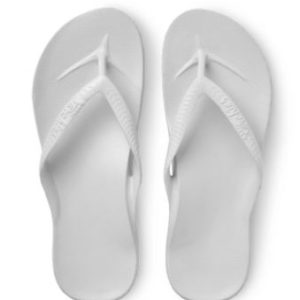 Archies Support Jandals White provides a Up to 2.2cm of orthotic support encourages optimal foot posture aiding whole body alignment. Rolleston Selwyn