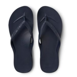 Archies Support Jandals Navy provides a Up to 2.2cm of orthotic support encourages optimal foot posture aiding whole bodyalignment. Rolleston Sewlyn