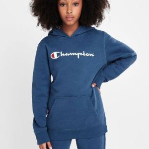 CHAMPION SCRIPT HOODIE KIDS With a front pocket for storing all the essentials and ribbed details on the cuff and hem band. Rolleston Selwyn