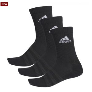 Adidas Black Crew Sock Made for all-day comfort, this trio of crew socks offers heel-to-toe cushioning and a cotton-rich build Rolleston Selwyn