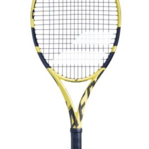 """BABOLAT JNR PURE AERO TENNIS 25"""" the aero dynamic frame enables the Racquet head to more more quickly increases ball speed and enhanced spin. Rolleston Selwyn"""