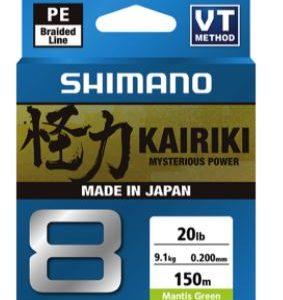 Shimano Kairiki 8 Mantis Green Shimano's enhanced body treatment (S-EBT) for friction reduction and abrasion resistance. Rolleston Selwyn