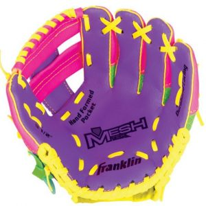"""FR Meshtek LHG 9.5"""" Pink Purple Yellow glove offer an extremely fun and lightweight solution for the first-time player. Rolleston Selwyn"""